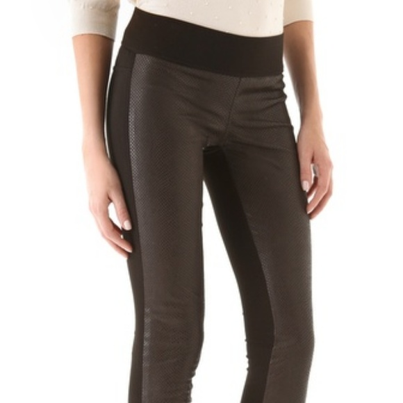 e0acb93ed80439 Club Monaco Pants | Tasha Faux Leather Legging Brown | Poshmark